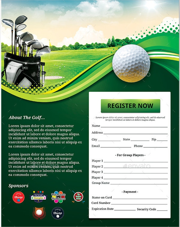 Golf Cup Event Flyer