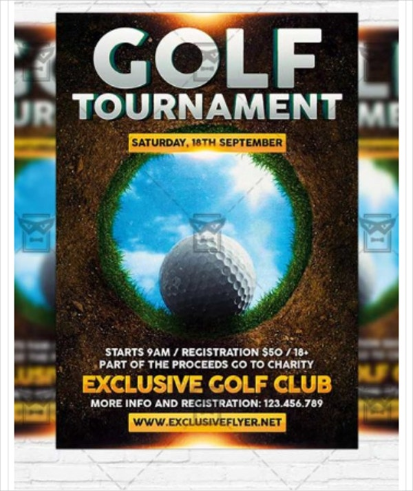 golf tournament premium flyer
