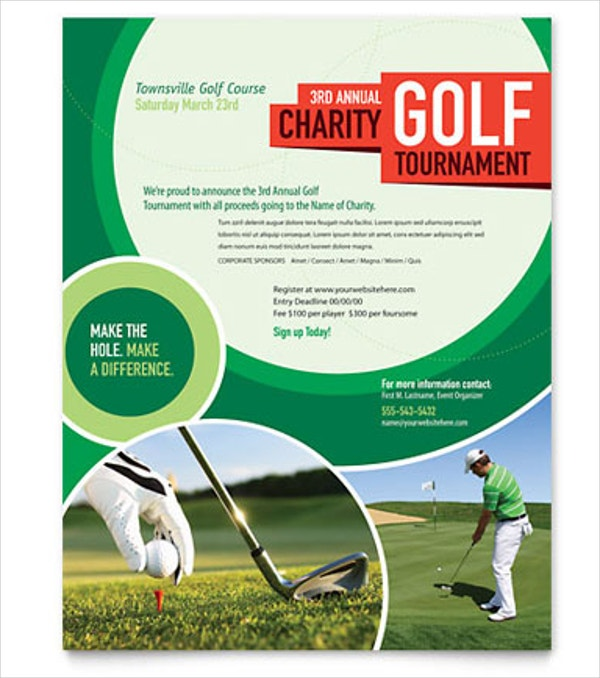 golf course flyer template1