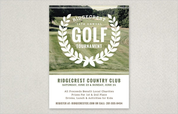 Golf Tournament Vintage Flyer Template