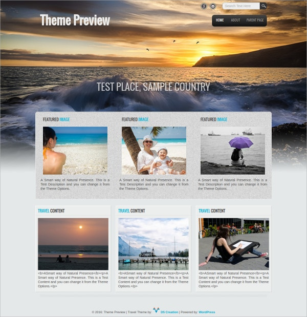 professional travel agency free wordpress theme