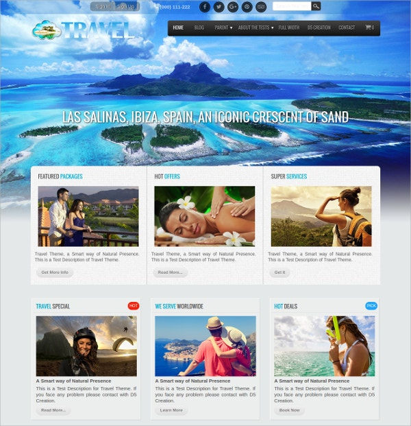 best travel agency free wordpress theme