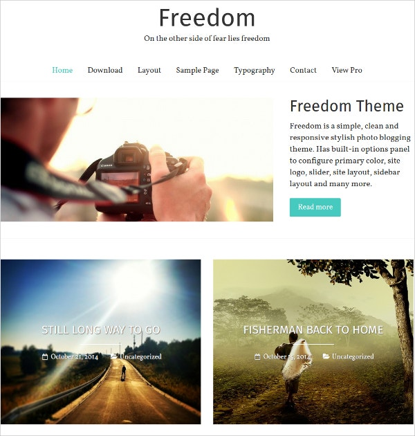 stylish photography trvael free wordpress theme