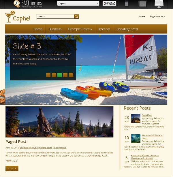 simple travel agency free wordpress theme
