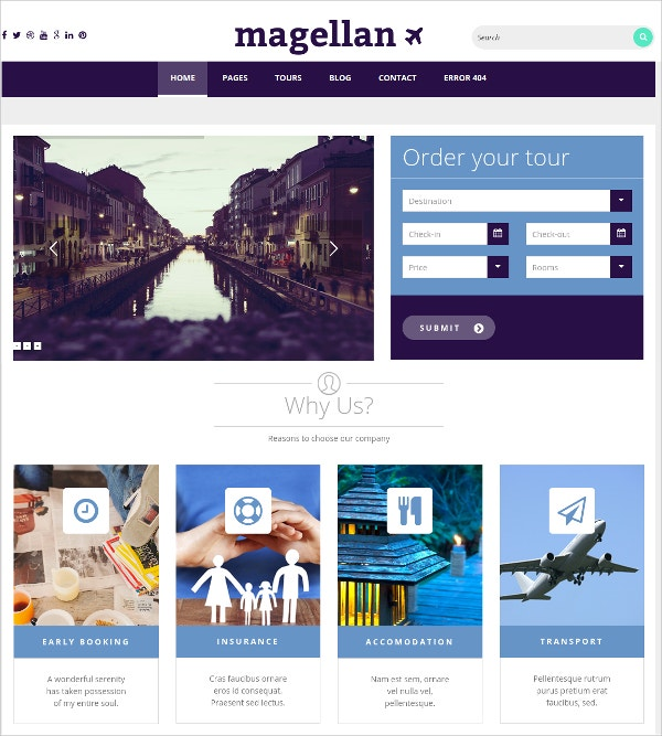 multipurpose travel blog free wordpress theme
