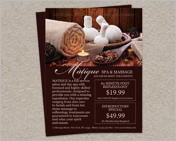 professional massage flyer