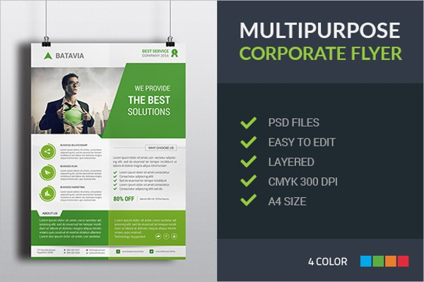 multipurpose corporate professional flyer