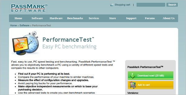 Passmark Performance Test PC Benchmarking
