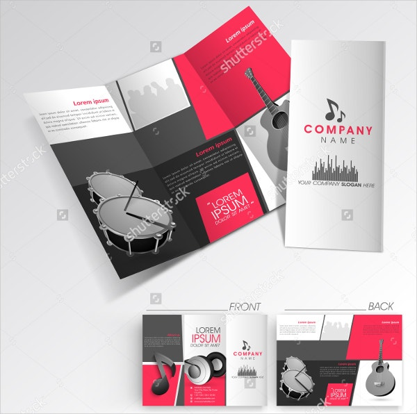trifold professional business flyer