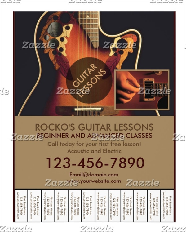 Professional Guitar Lesson Flyers