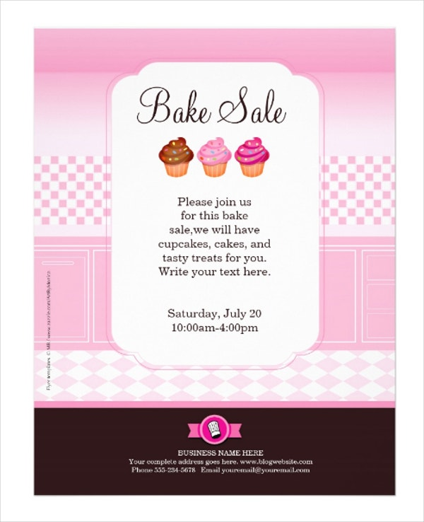professional bake sale flyer