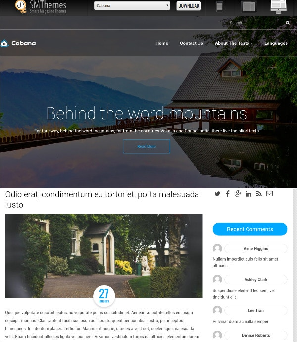 free perfect real estate wordpress theme