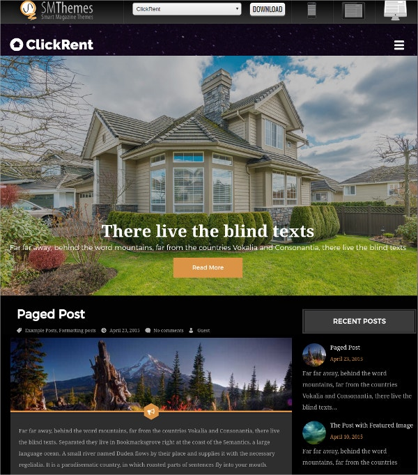 free premium real estate wordpress theme