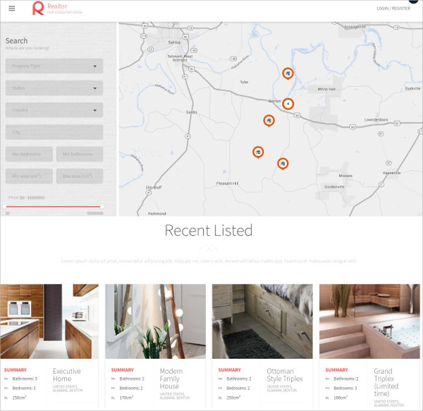 free rental real estate wordpress theme