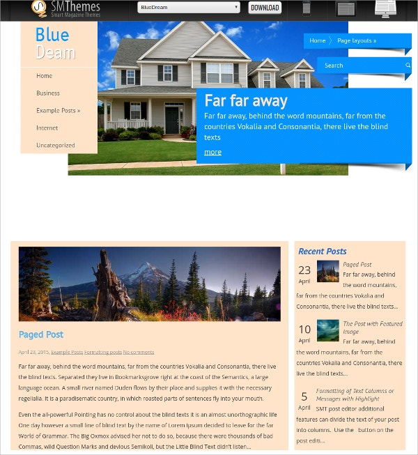 free portfolio blog real estate wordpress theme