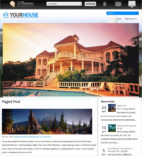 free real estate investment wordpress theme