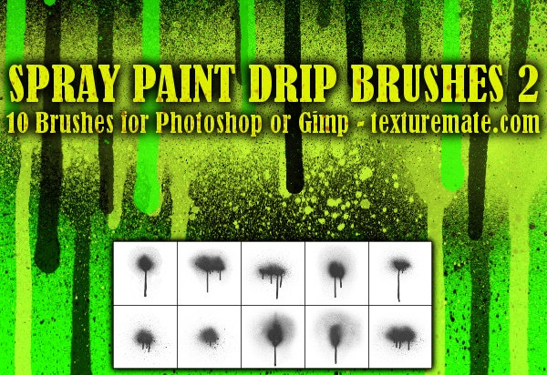 Spray Paint Drip 2 Brush Pack for Photoshop