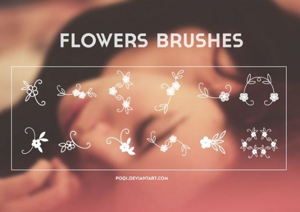 Free Flowers Photoshop Brushes