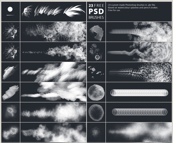 Download Clouds Free Brushes for Adobe Photoshop
