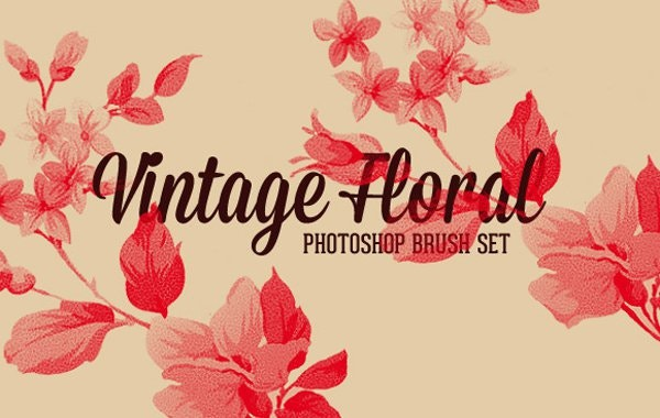 Vintage Floral Photoshop Brush