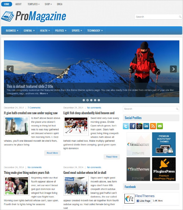 Free Modern, Design Responsive News WordPress Theme