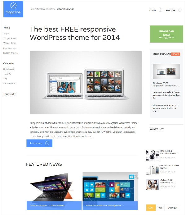 Premium Magazine Portal Free Responsive WordPress Theme