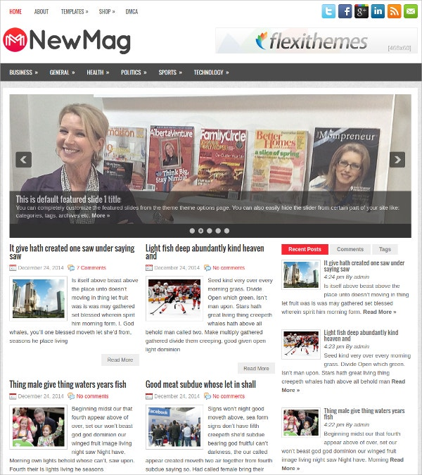 Creative Free Responsive News & Magazine WordPress Theme
