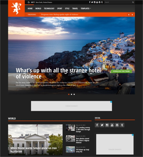 News & Magazine Free Fully Responsive WordPress Theme