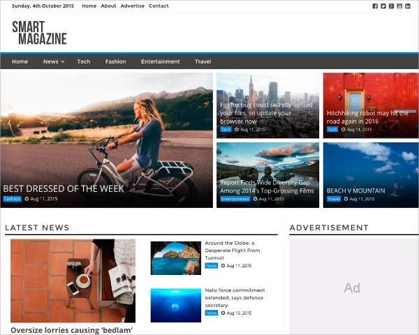Smart Magazine Free WordPress Theme
