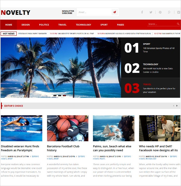 Multipurpose magazine & News Free WordPress Theme