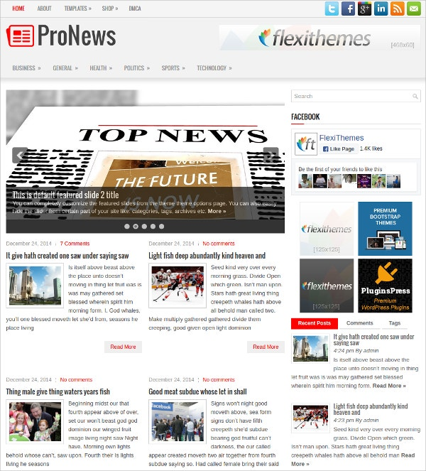 Stunning Free Responsive News & Magazine WordPress Theme