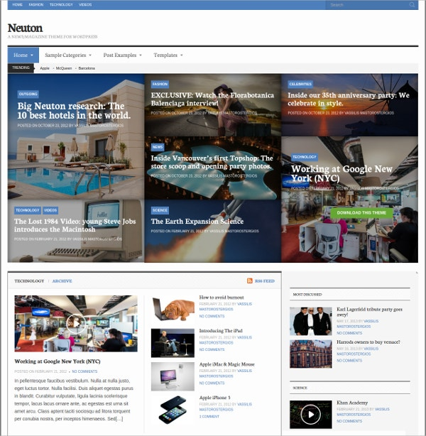 Powerful News & Magazine Free WordPress Theme