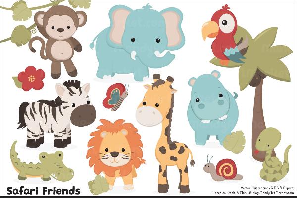 cute safari animal vector