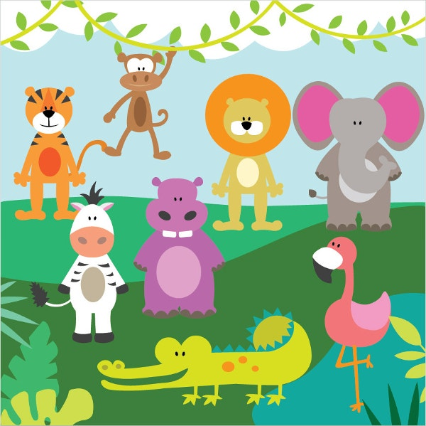 jungle animals vector
