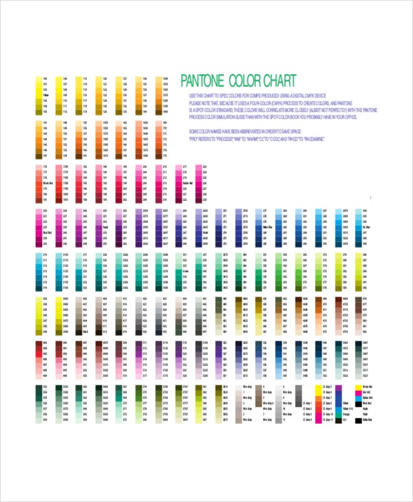 Color Chart 10 Free Word Pdf Documents Download Free Premium