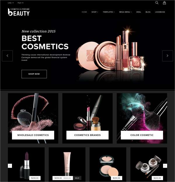 fragrances perfumes cosmetics store html5 theme 56