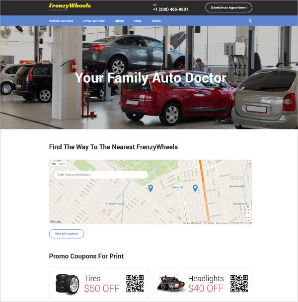 Vehicle Services HTML5 Website Template $75