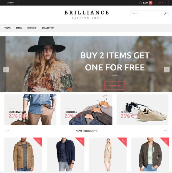 Creative Dresses HTML5 Template $12