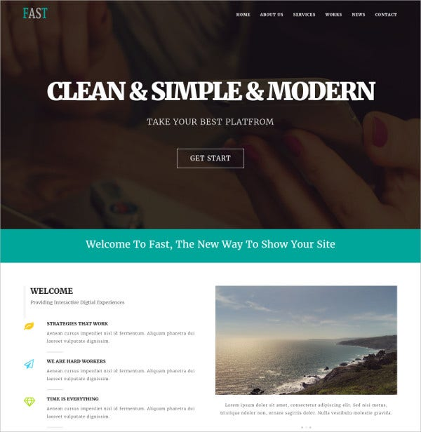 Corporate & Business HTML5 Website Template $12