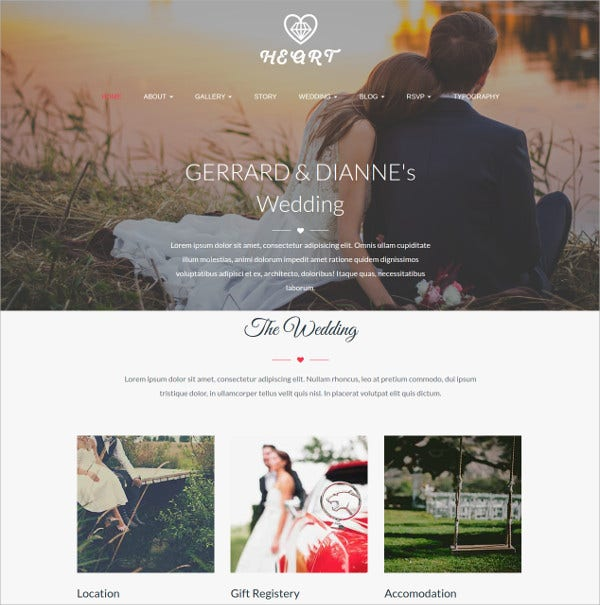 Beautiful Wedding Story, Event HTML5 Template $17
