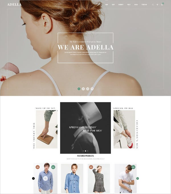 Design Fashion eCommerce PSD Template $17