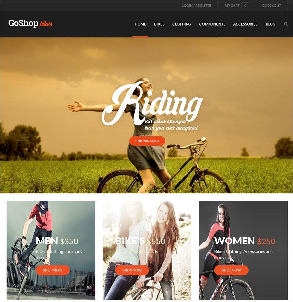 Multipurpose Bike Riding HTML5 WordPress Theme $59
