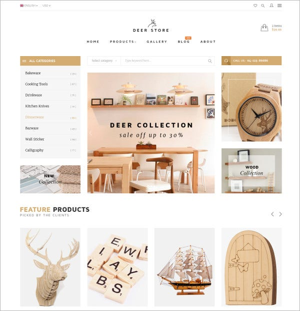 Fashion eCommerce PSD Template $12