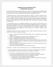 Medical Confidentiality Agreement Form