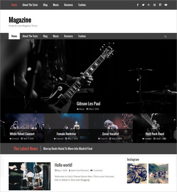 Music & Events WordPress Theme $45