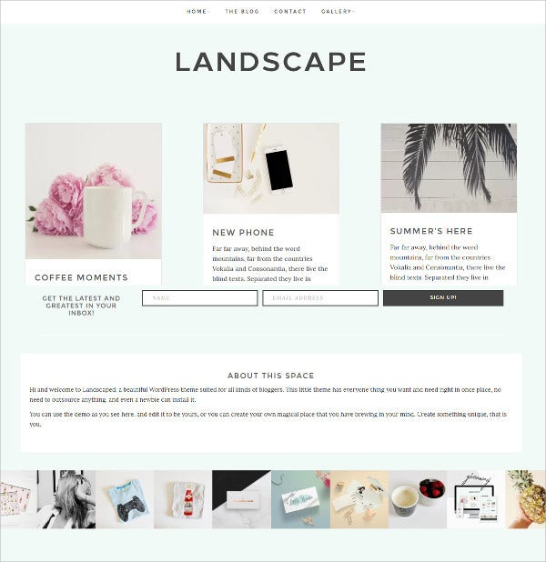 Minimal WordPress Theme $35