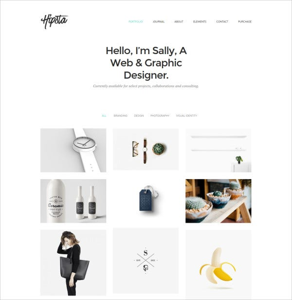 Minimal Creative Portfolio WordPress Theme $28