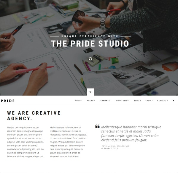 Creative Multipurpose WordPress Theme $59