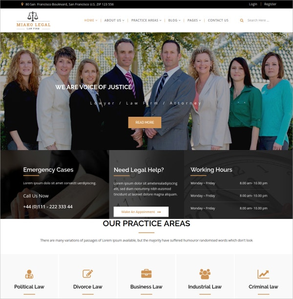 Law Firm Joomla Template $48