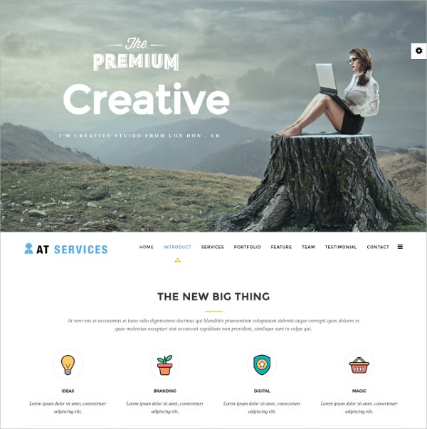 services onepage joomla template 19